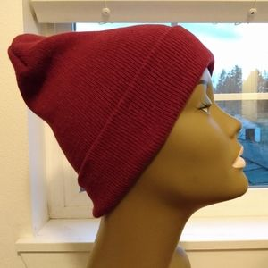 Cranberry Red Beanie Hat